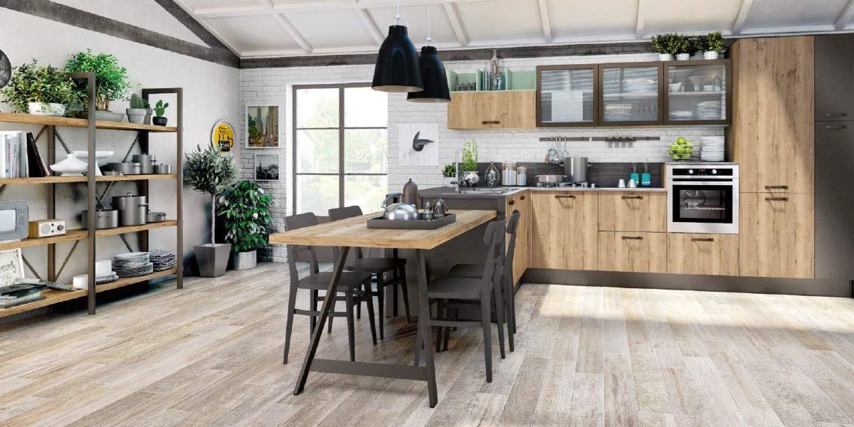 Кухня в стиле Лофт Дерево