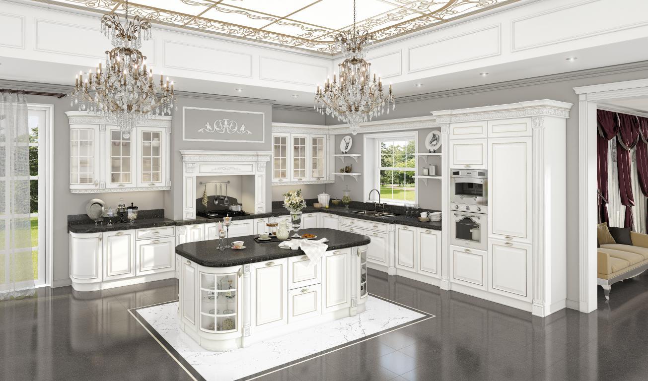 Кухня Орнелла Бьянка с порталом и островом
